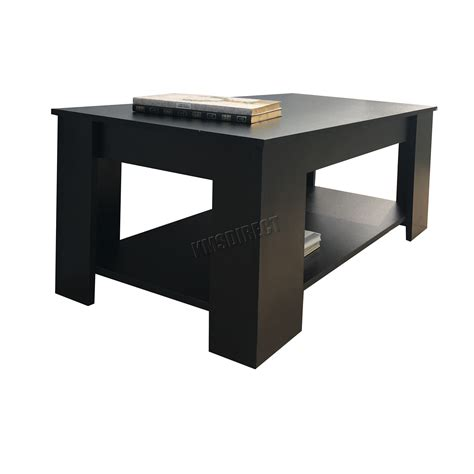 Coffee Table With Lift Up Top Foxhunter Lift Up Top Coffee Table Mdf With Storage And Shelf Living Room Ct01 Ebay