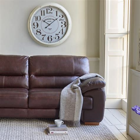 2 seater brown leather sofa clayton 2 seater sofa in brown leather oak furniture land