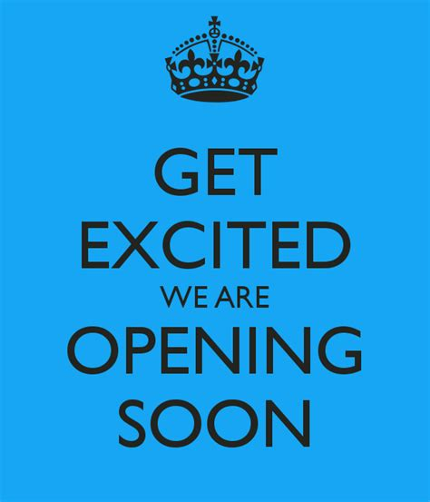 Get Excited With Valentino Boutique Opening get excited we are opening soon poster eric keep calm