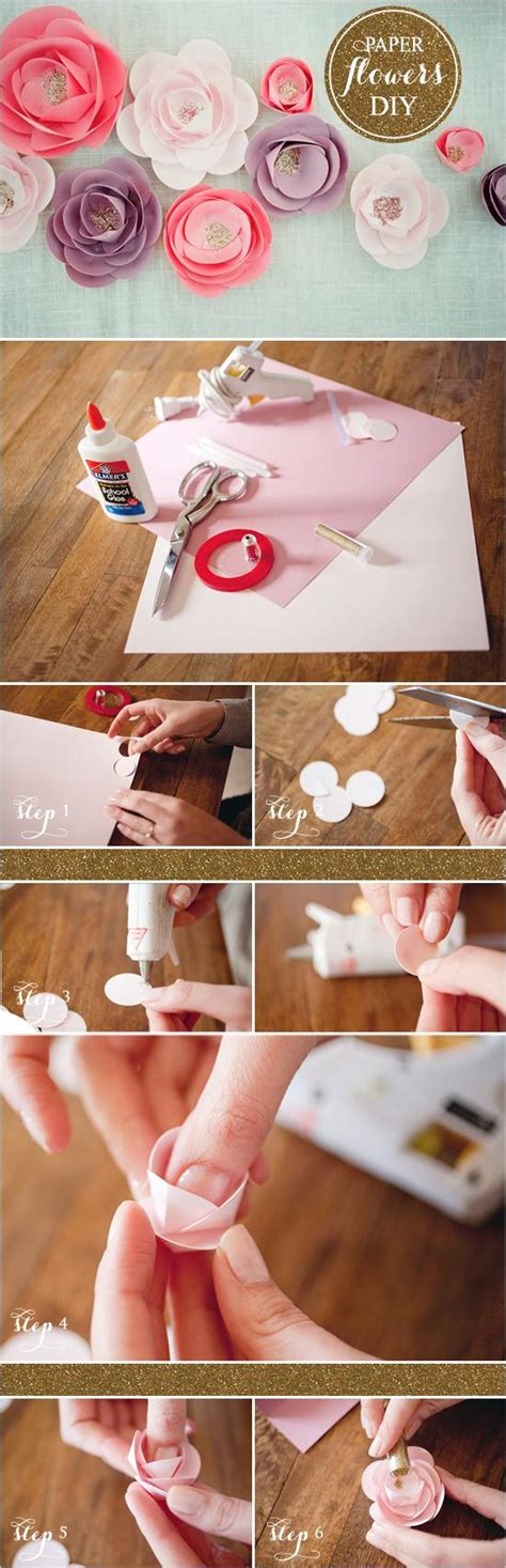How To Make Flower With Paper - diy how to make paper flowers 792791 weddbook