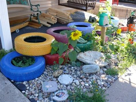 Garden Using Tires Way To Use Tires In The Garden Tires