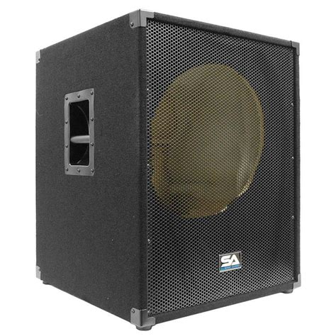 Speaker Fabulous 18 Inch 18 quot empty subwoofer bass cabinet 18 inch sub cab 18