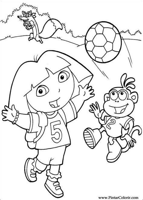 Dora Soccer Coloring Pages | desenhos para pintar e colorir dora a aventureira