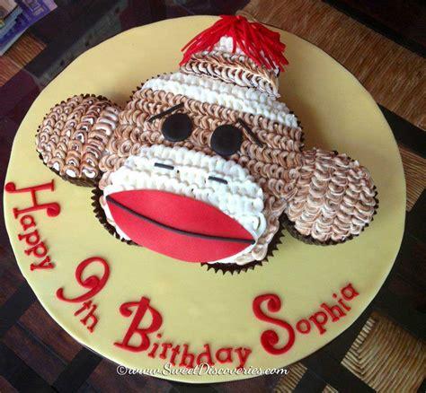 a sock monkey cake sock monkey cupcakes cake sweet discoveries