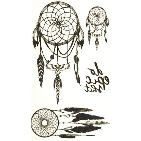 cute small dreamcatcher tattoos aliexpress buy 10x6cm temporary small fashion