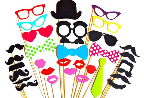 sale perfect photo booth props 32 piece prop set