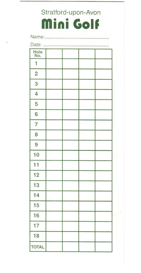 golf scorecard template custom card template 187 golf score card template free