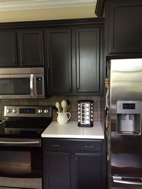 sherwin williams cabinet paint cabinets are sherwin williams quot iron ore quot sw7069 color my