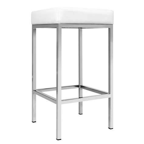 kitchen bar stools white set of 2 pu leather kitchen bar stool white