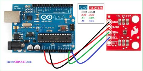 connect colors isl 29125 rgb color light sensor with arduino