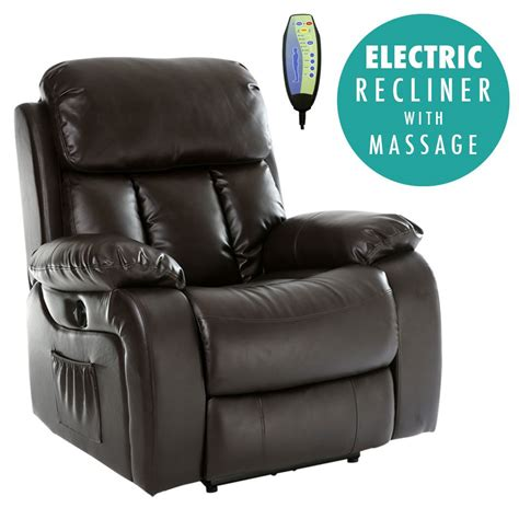 massage sofa chair chester electric heated leather massage recliner chair