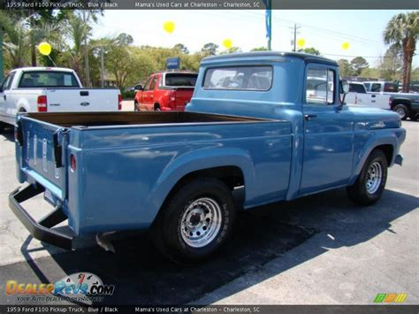 ford truck blue 1959 ford f100 truck blue black photo 7
