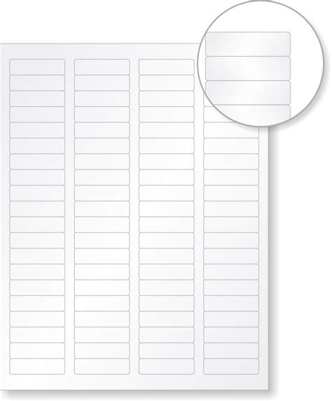 lg printable vinyl blank vinyl laser printable 80 labels sheet 0 5in x 1