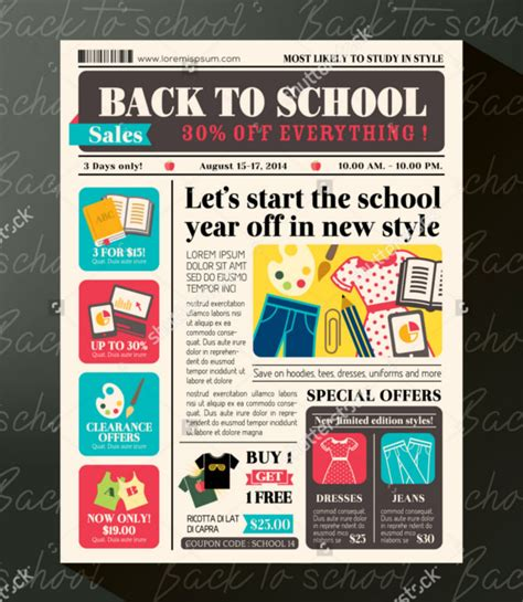 layout of newspaper advertisement 8 school newspaper templates free sle exle