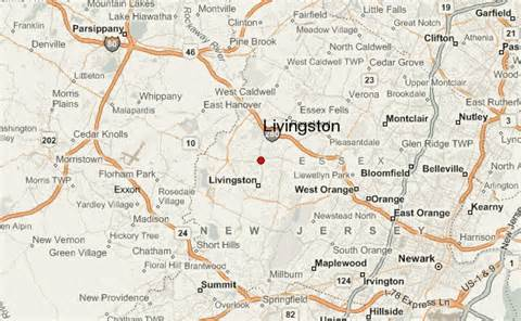 where is livingston on a map livingston new jersey location guide
