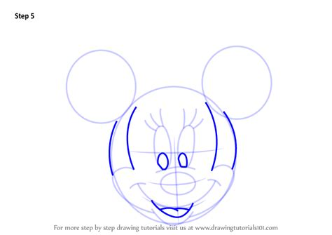 learn how to draw mickey mouse step by step easy drawing learn how to draw minnie mouse face from mickey mouse