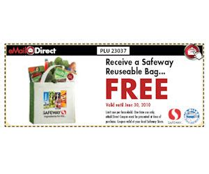 free printable grocery coupons safeway safeway reusable bag free with coupon printable coupons
