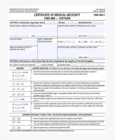 Sle Medical Certification Forms 8 Free Documents In Pdf Certificate Of Necessity Form Template