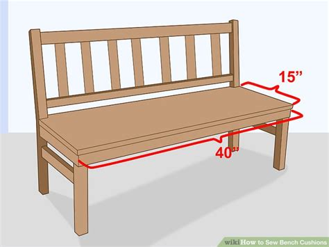 how to make a bench cushion without sewing how to sew bench cushions with pictures wikihow
