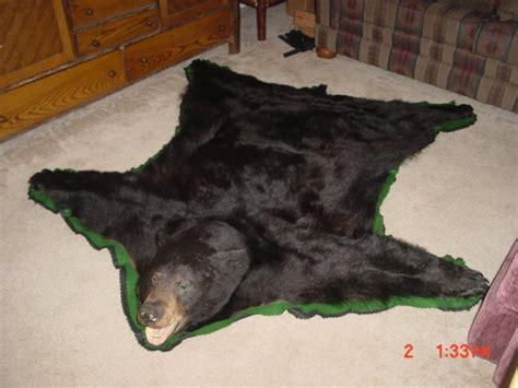 on a bearskin rug real skin rug roselawnlutheran