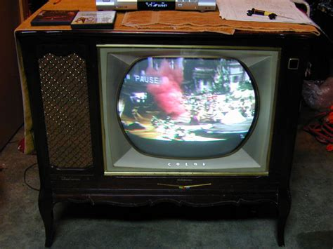 rca model ctc 7 color television 1958