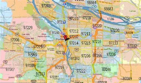 map of portland oregon zip codes zip code map for portland oregon map travel