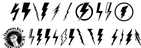 lightning font lightning bolt font