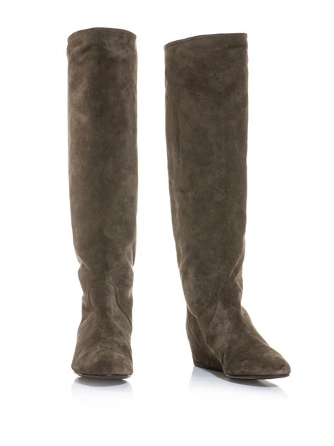 lanvin suede knee high boots for www teexe