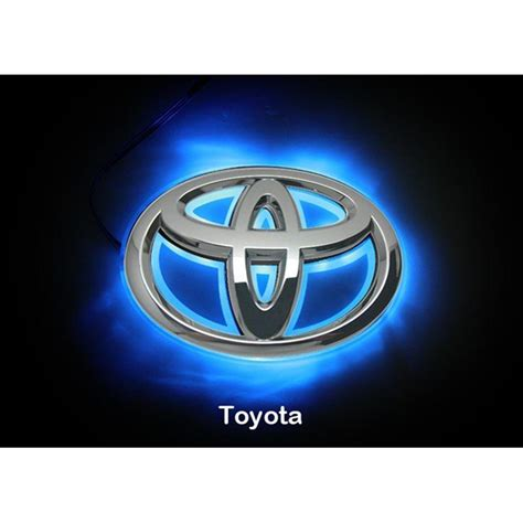 toyota camry logo led car logo blue light for toyota 08camrys corolla head
