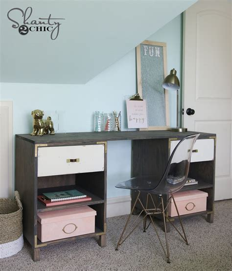 Diy Desk With Storage Diy Cubby Storage Desk Shanty 2 Chic