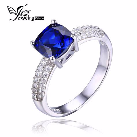 get cheap blue sapphire engagement rings