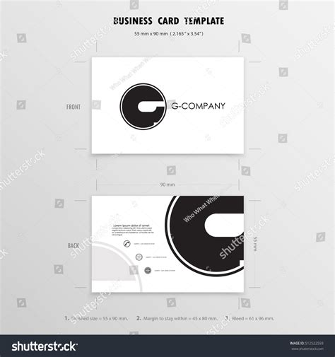 business cards design template name cards stock vector