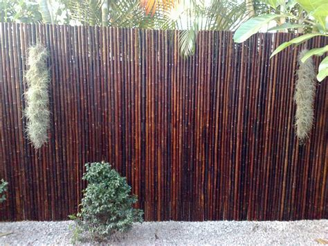 Backyard Bamboo Fencing by Bamboo Fence Panels Are Easy To Install And Can Be Used