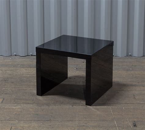 Black Gloss Side Table Hoxton Black Gloss Side Table Mediacityfurniturehire