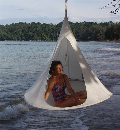 Sling Bag Hang Out Tf891 White hanging canvas cocoon by the forest co notonthehighstreet