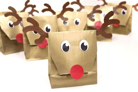 reindeer bag printable how to make reindeer party bags party delights blog