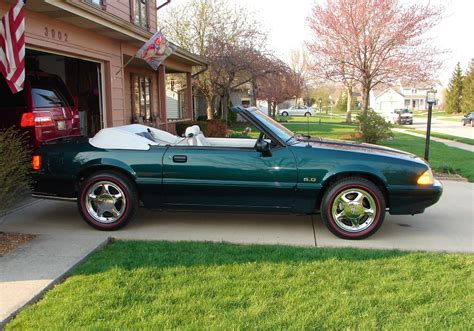 emerald green 1990 ford mustang gt 25th anniversary 7