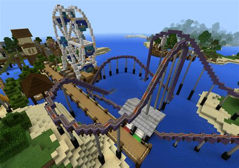 theme park names minecraft torque amusement park creation roller coaster