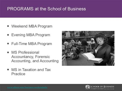 School Of Business Mba Eligibility by At Albany Weekend Mba Program Overview
