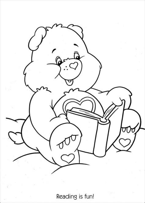 reading rocks coloring page care bears colors coloring home