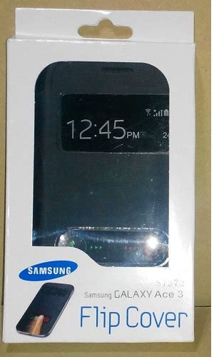 Jual Casing Hp Samsung Ace 3 jual jual flip cover samsung galaxy ace 3 with call id view magnet free warna hitam