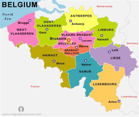 belgium states map states map  belgium belgium