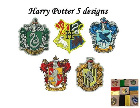 harry potter embroidery designs harry potter embroidery design pack 5 designs hogwarts