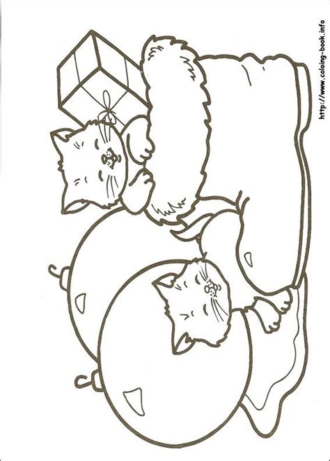 Printable Christmas Kittens | 88 best coloring pages images on pinterest coloring