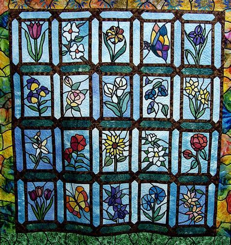 Stained Glass Quilt by Best 20 Stained Glass Quilt Ideas On Blue