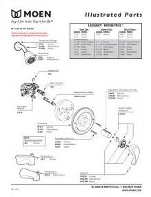 replacement parts for shower faucet 7 best images of moen shower valve parts diagram delta