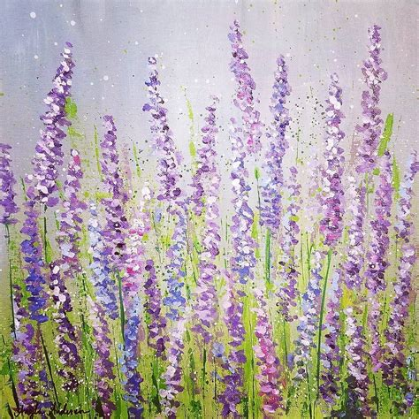 lavender paint lavender field acrylic painting tutorial on by