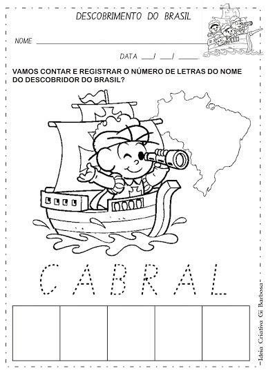 Atividade Descobrimento do Brasil Contando e Registrando