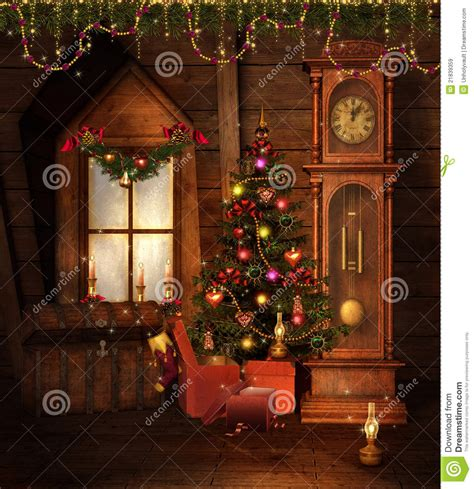 time tree decorations room royalty free stock images image 21839359
