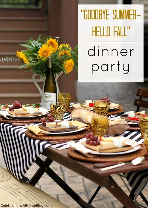 dinner party entertainment ideas welcome fall with a dinner party al fresco fresco